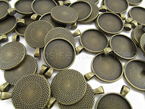20 CleverDelights Round Pendant Trays product image