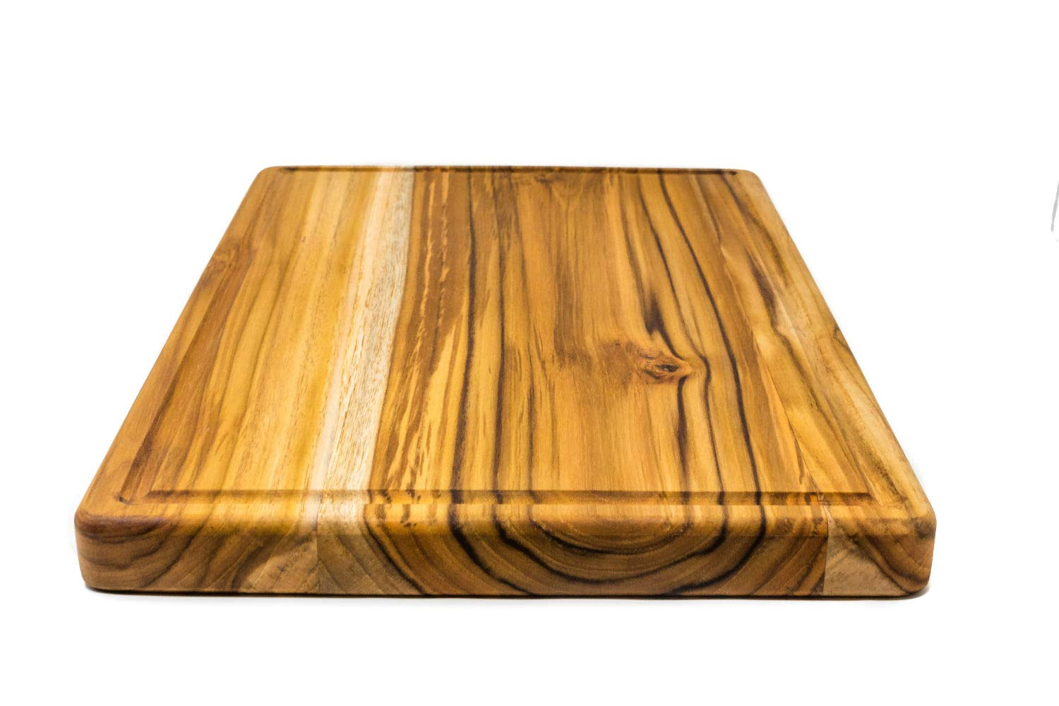 Large Reversible Teak Wood Cutting Board with Juice Groove - Hardwood Chopping Block and Serving Tray (17x11x1 Inches) by Do it wiser (Image #5)