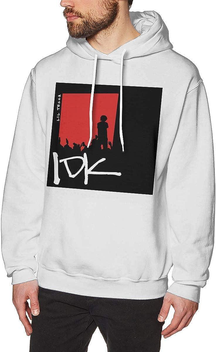QINQIN Lil Tecca IDK Fashion Mens Hat and Pocketless Sweater Black