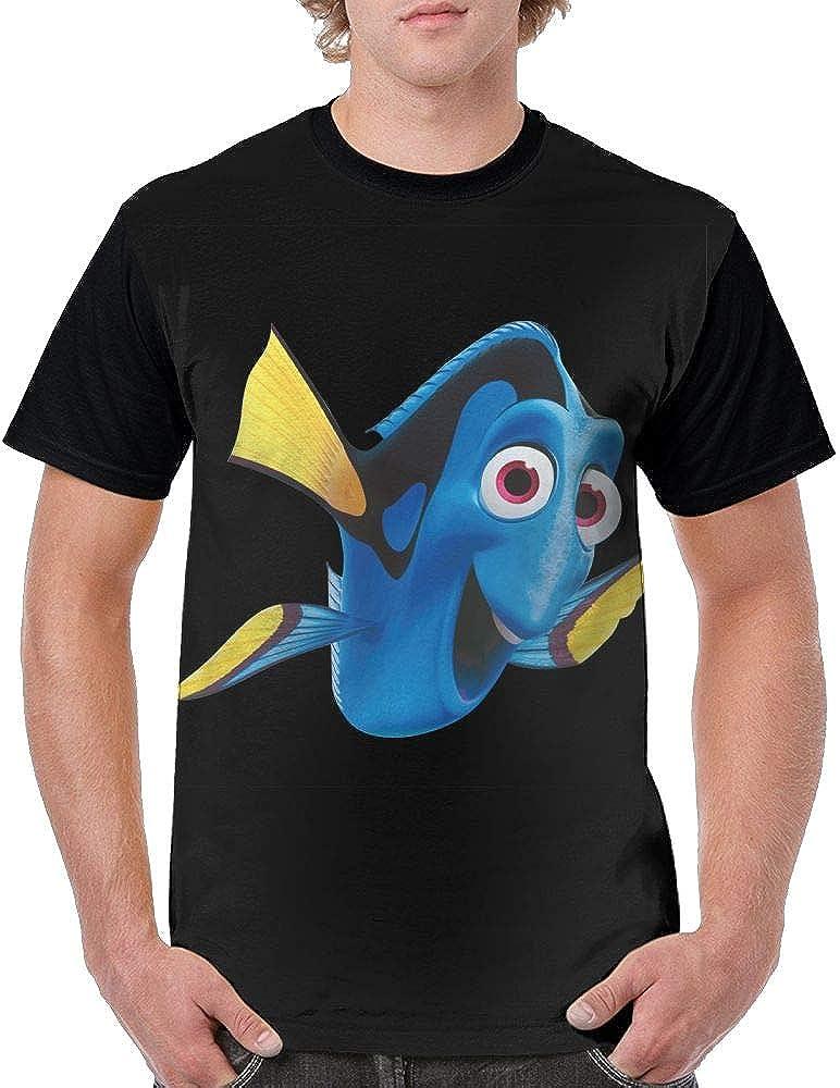 Aiguan Blue Fish O Neck Graphic 6076 Shirts