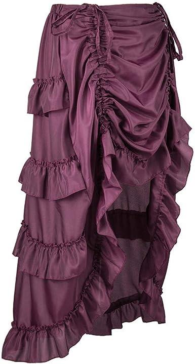 Bestow-falda Pirata Steampunk para Mujer con Volantes Falda Pirata ...