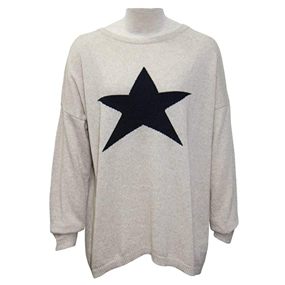 co Luella X BeigeAmazon Cashmere uk Blend Sweater Star rQthdCs