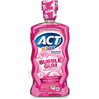 ACT Kids AntiCavity Fluoride Rinse Children's Mouthwash, Bubblegum Blowout, Bubble Gum Blow Out, 16.9 Fl Oz, Limited…