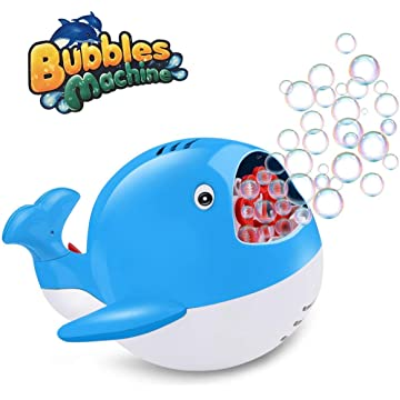 HUALEDI Bubble Machine with High Output, Automatic Durable Bubble Maker for Parties, Kids,etc …