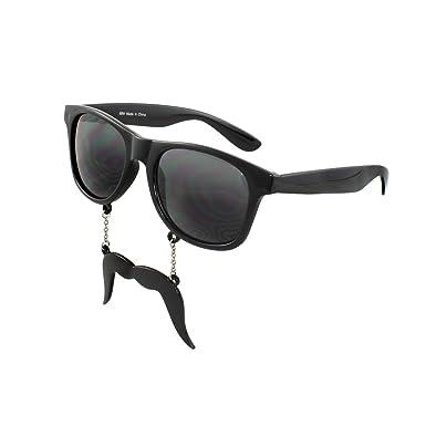 7355916d551 Image Unavailable. Image not available for. Colour  MLC Eyewear Wayfarer  Fashion Sunglasses 69M Black Frame mustache ...