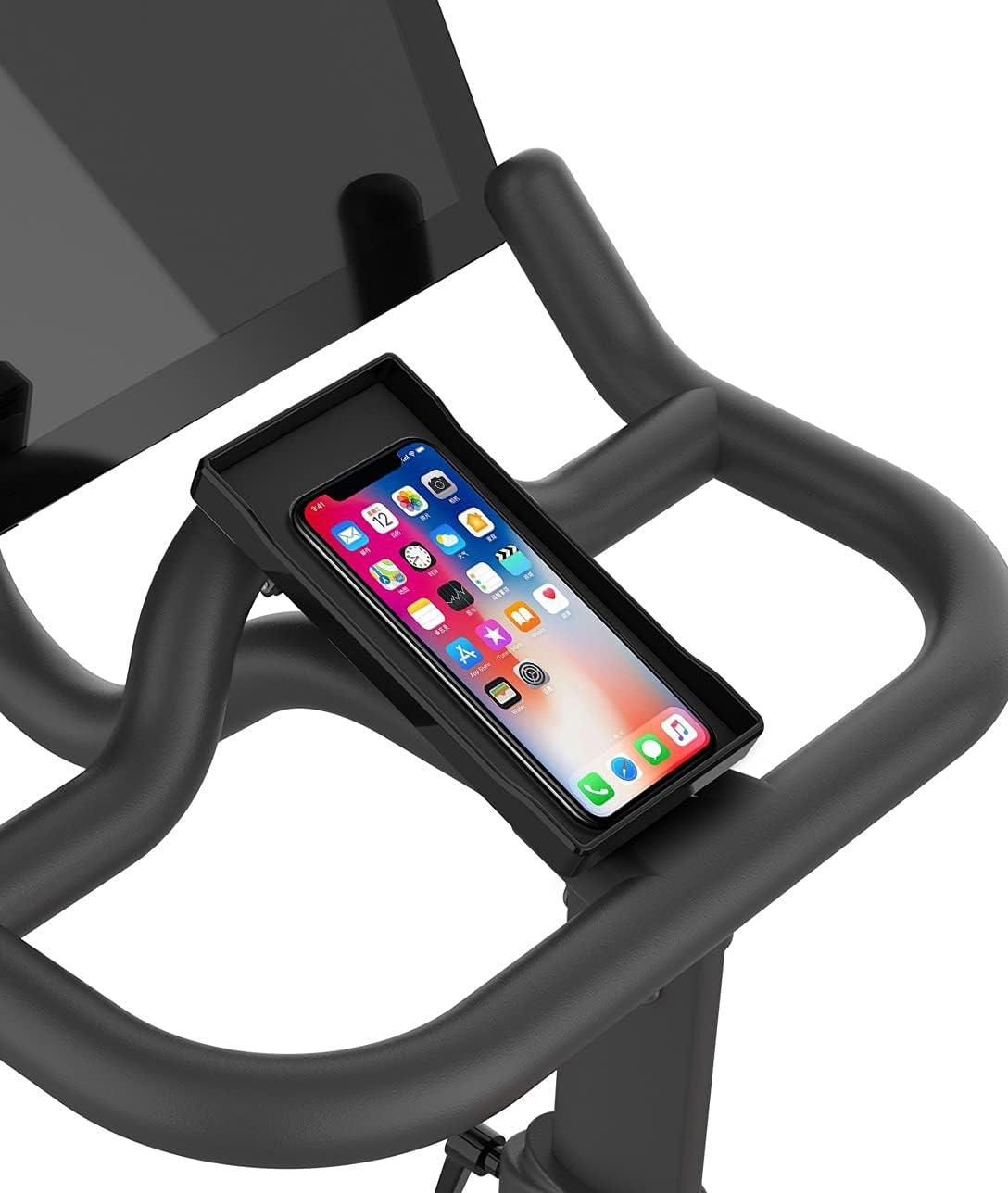 Handlebar Anti-Slippery Phone Mount Bracket Holder for Peloton Bike and Peloton Bike +, Bike Phone Mount for Peloton Accessories Stand on Handlebar
