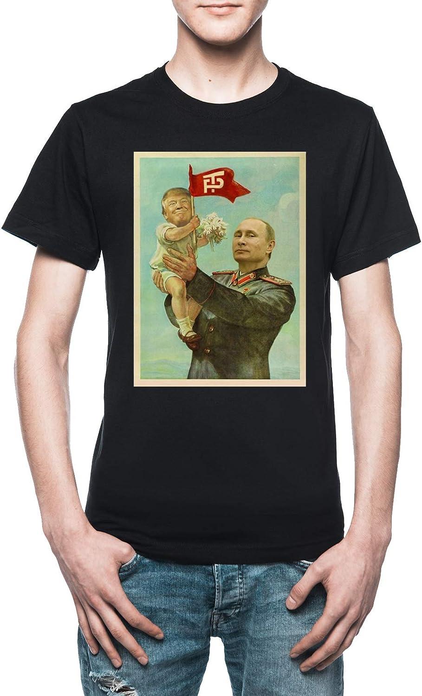 Vendax BEBÉ Triunfo con Putin Camiseta Hombre Negro