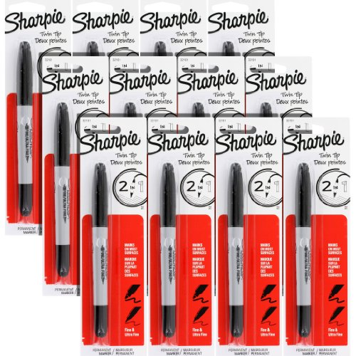 Sharpie Twin Tip Permanent Marke Fine Point Ultra Fine Point Black