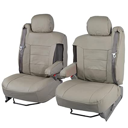 Truck seat covers with integrated seat belt
