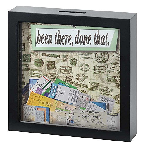 Framed Shadow Box (Been There Done That 7 x 7 Black Wood Framed Shadow Box Ticket Stub Holder)