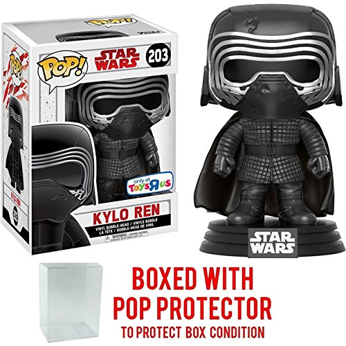 Funko Pop! Star Wars: The Last Jedi - Masked Kylo Ren #203 (Toys R Us Exclusive) Vinyl Figure (Bundled with Pop BOX PROTECTOR CASE)