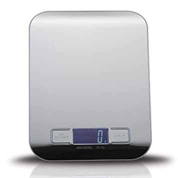 Catal Báscula de Cocina Digital Acero inoxidable con Multifuncional de 5kg (1g / 5kg) Para Hornear: Amazon.es: Hogar