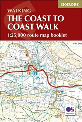 the coast to coast walk map booklet 125 000 route map british long distance amazoncouk terry marsh 9781852849269 books