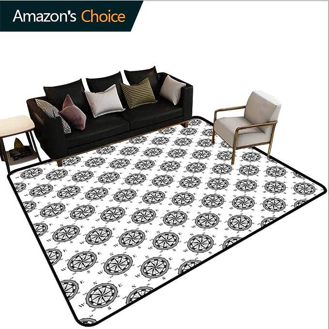 Amazon.com: Bigdatastore - Alfombra geométrica con brújula ...