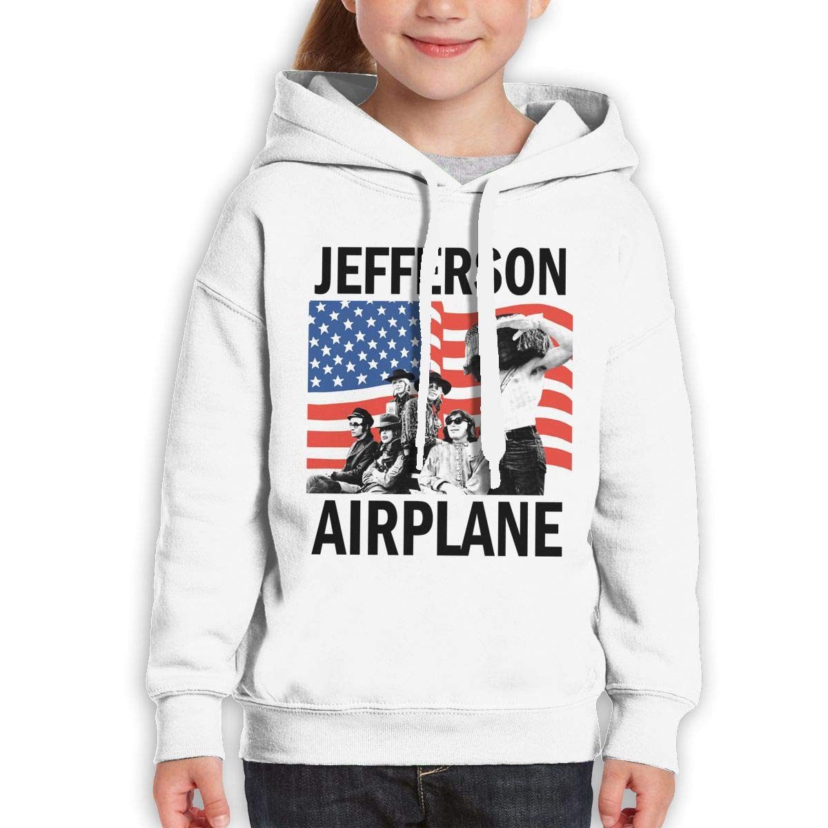 Guiping Jefferson Airplane Teen Hooded Sweate Sweatshirt White