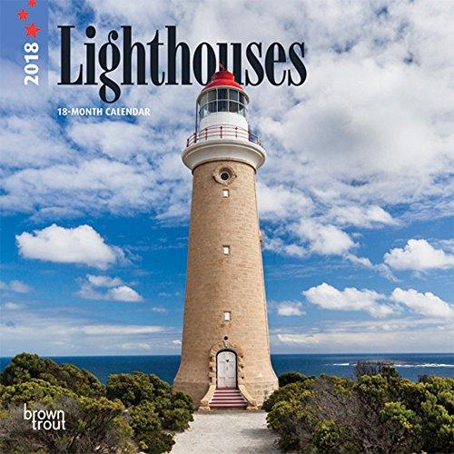 Lighthouses 2018 7 X 7 Inch Monthly Mini Wall Calendar, Ocean Sea Coast (Multilingual Edition)
