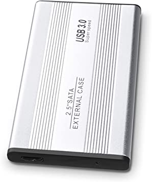 "2T Portable External Hard Drive 2.5/"" USB 3.0 HDD Storage Device Silver"