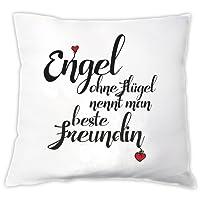 """Kissen """"Engel ohne Flügel nennt man beste Freundin"""", Zierkissen, Dekokissen, Geschenkidee, Geburtstag, beste Freundin, Weihnachten"""