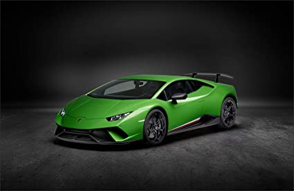 Lamborghini Huracan, LP,580,2 Green Wall Art, Pop Art, Poster, Art Prints