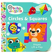Baby Einstein: Circles and Squares (Sturdy Lift a Flap Board Book)
