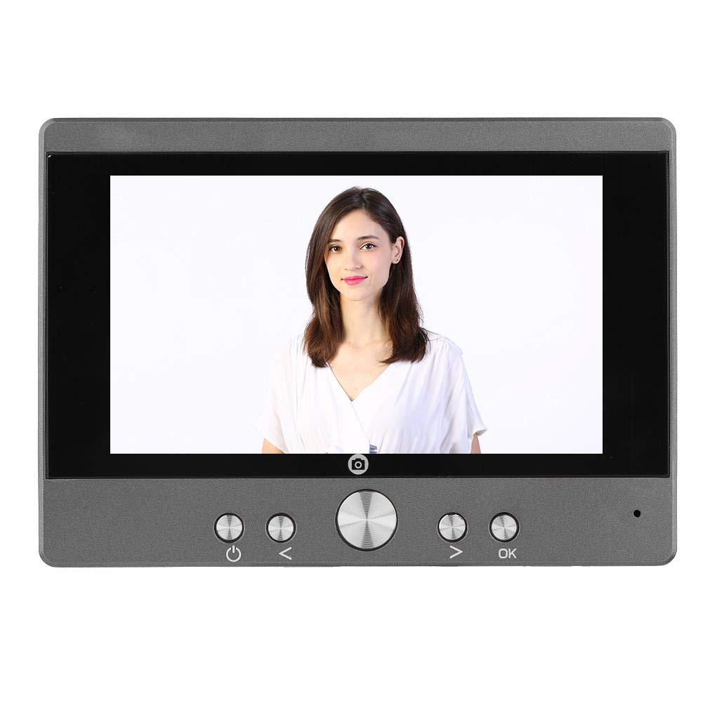 ASHATA Video Campanello, Campanello Visivo Monitor TFT LCD da 5 Pollici Elettronico Suoneria Notte Visione Spioncino Smart Reader Campanello Video Digitale per la Sicurezza Domestica(EU)