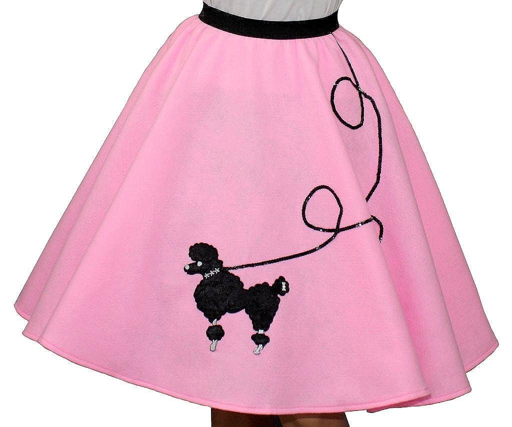 3 BIG NOTES Adult Pink Felt Poodle Skirt FELT - Pink