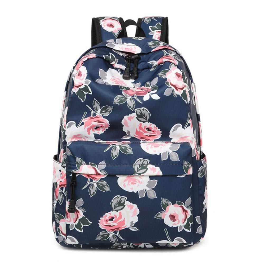 Lady Custom Backpack, 3 Pieces/Set Floral Prints School Backpack Girl Fashion Kids School Bag for Girls Backpacks for School Book Bag 17x12 Inch by Boris Felix