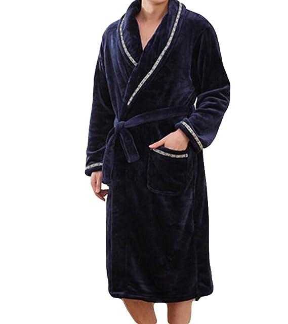 Camisón De Franela Pijamas Hombres Caen Y El Invierno De Terciopelo Grueso De Coral Albornoz Hombre