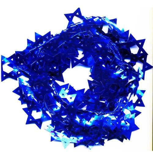 Hanukkah Mini Star of David Decoration, 18 FT Blue Star of David Party Decoration (Single) - Decorations Party Hanukkah