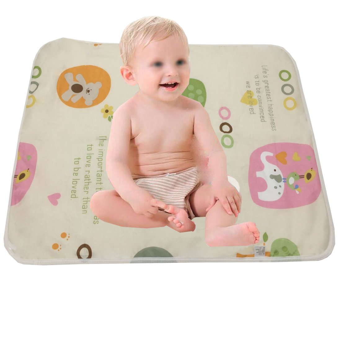 October Elf Unisex Baby Waterproof Diaper Changing Mat Pad with Large Size (20*28, L/1pc) None-Name OE432L1