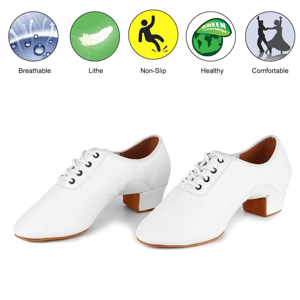Roymall Mens Leather Professional Latin Dance Shoes Ballroom Jazz Tango Waltz Performance Shoes