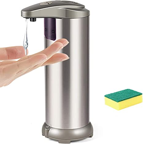 Soap Dispenser Touchless Auto Waterproof Base Stainless Steel Infrared Sensor