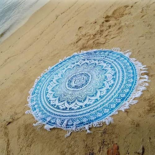 Boho Hippie Mandala Round Towel Tapestry Wall Decor Beach Throw Blanket Yoga Mat