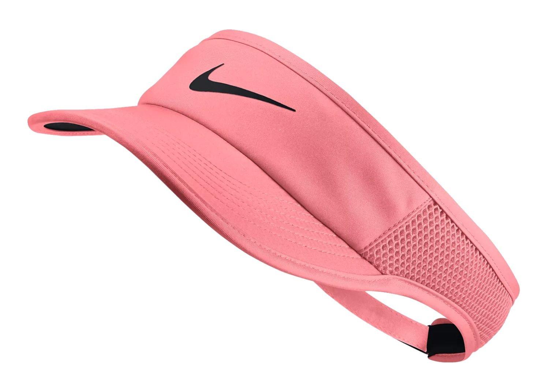 9e75bf4e8 Nike Feather Light Women's Arobill Visor Adjustable Sun Visor, Lava ...