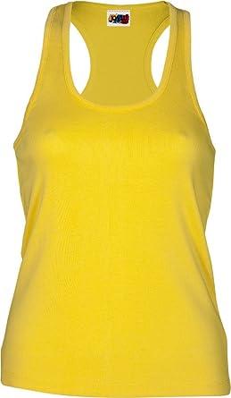Emilio Fernández Camiseta Tirante Espalda NADADORA 100% ALGODÓN Amarillo: Amazon.es: Ropa y accesorios