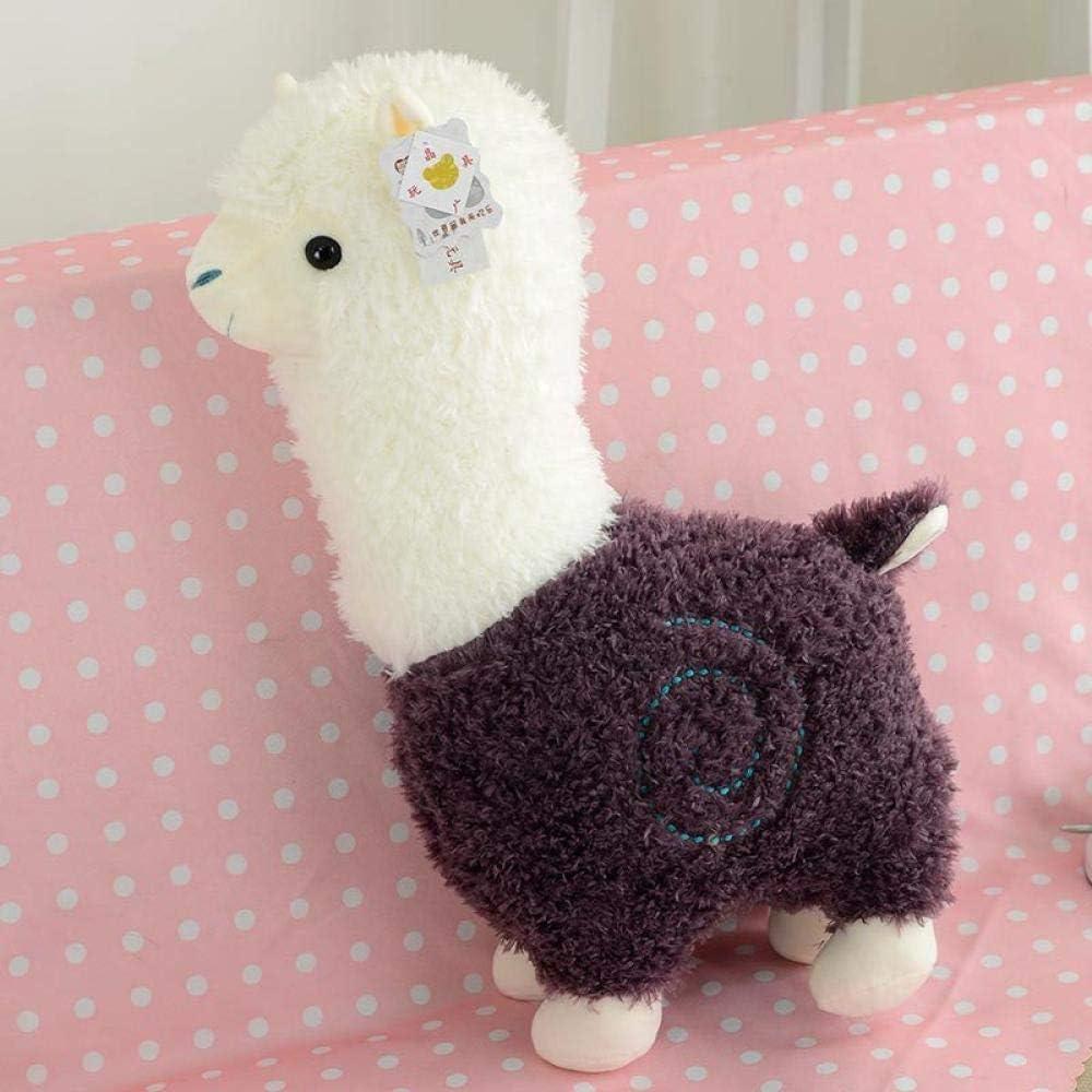 Desconocido Lindo cojín de Caballo de Alpaca para Amante de Tanabata de Peluche con Forma de Oveja, Morado, Altura: 45 cm