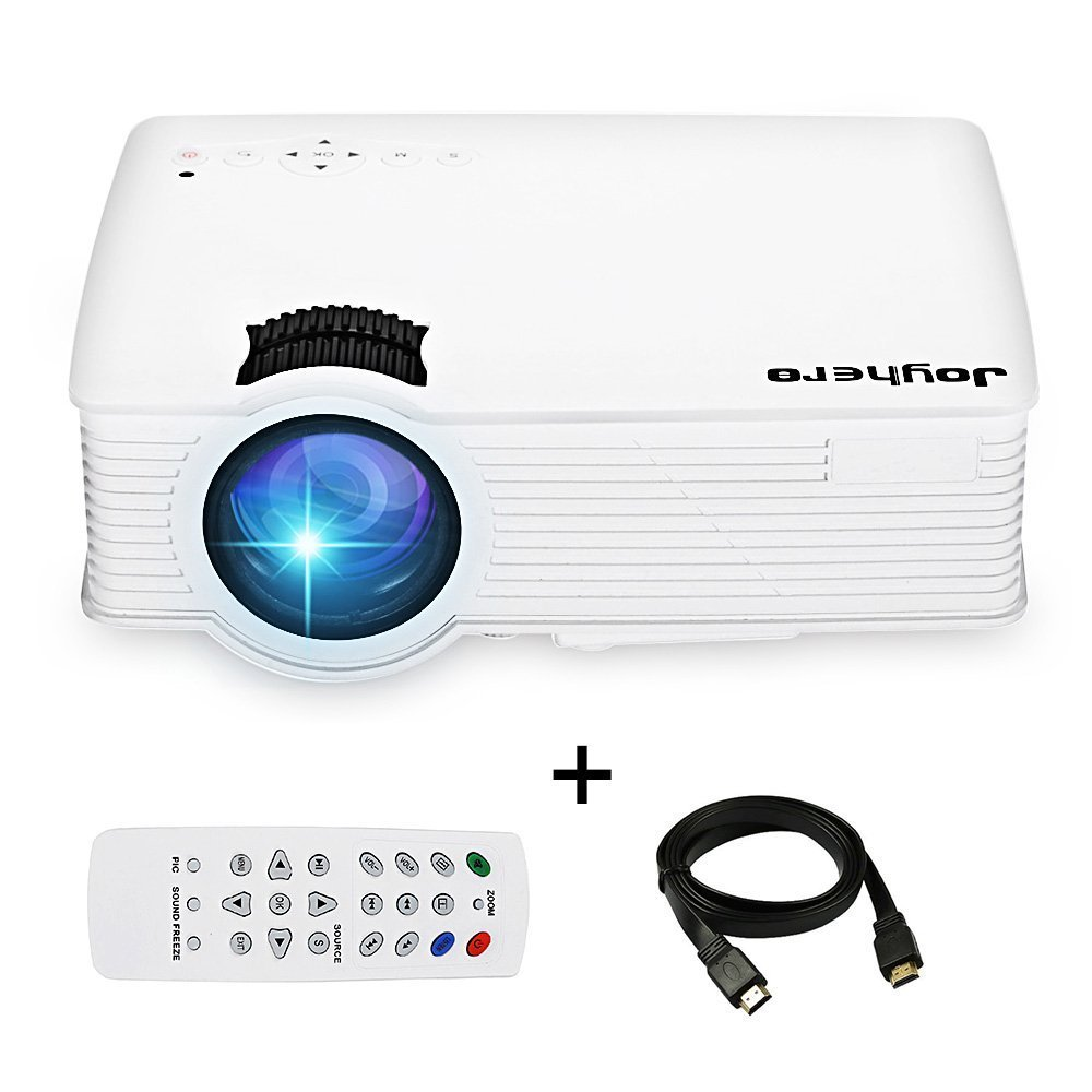 Mini Multimedia Home Theater Video Projector, Joyhero 2800 Lumens Full HD Home Cinema Projector Support 1920 x 1080 Pixels Multimedia Portable HD Projector for Home Theater Entertainment, Party and Games(White)
