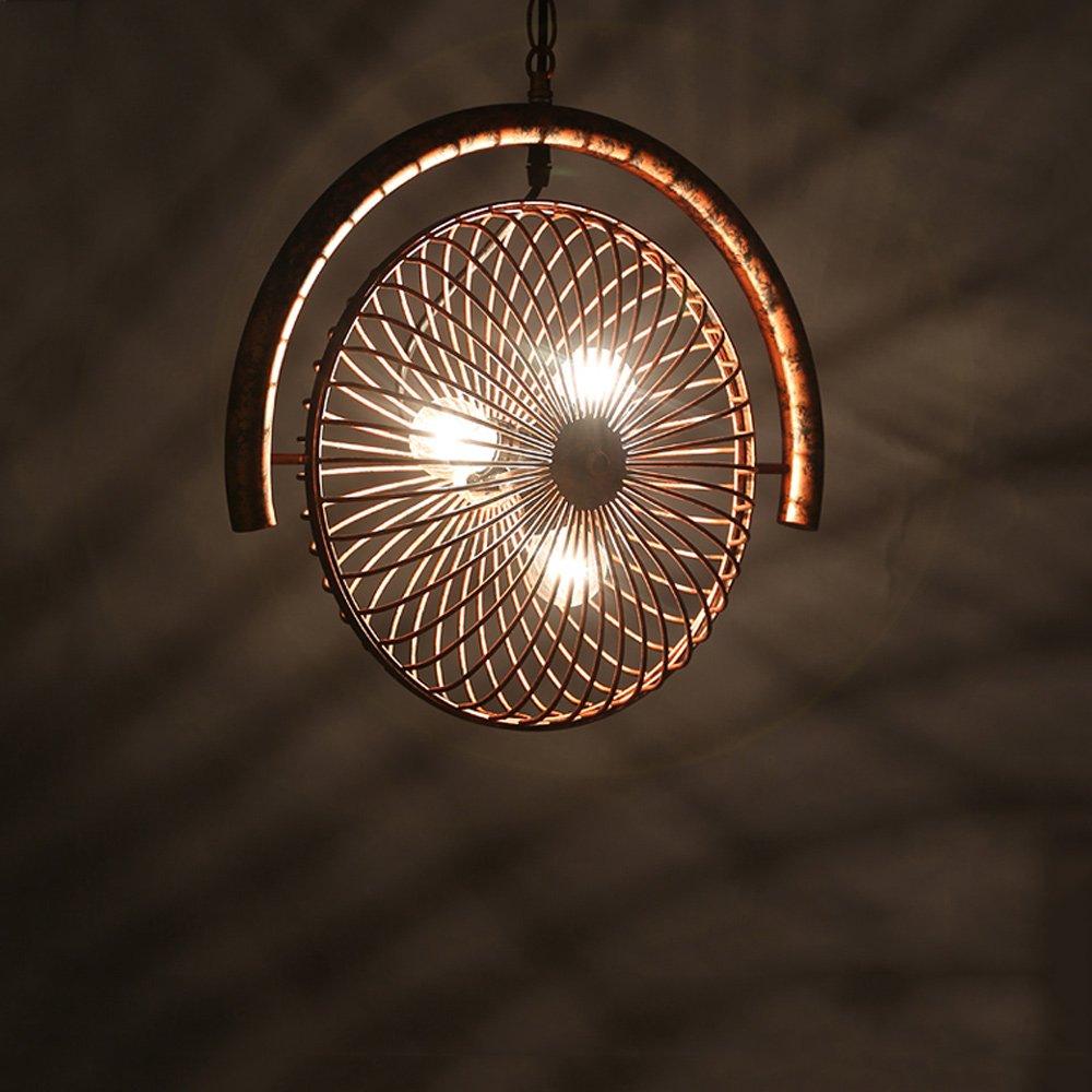 Retro Antique Fan Kronleuchter Deckenpendelleuchte hängen Licht Industrie Loft Vintage Pendelleuchte Dekoriert Restaurant Küche Lager E27 3 Köpfe (Größe   Style B)