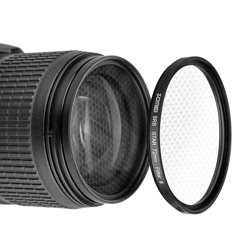 Negro-52mm non-brand gazechimp ZOMEI 40.5-82mm Star-Effect Starburst 4 8 Puntos Filtro De Lente para C/ámaras 6