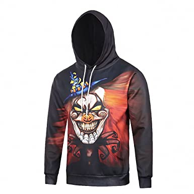 Crochi Fashion Halloween Themes Mens Hoodie 3D Full Printed Sweatshirt Skulls Printing Sweatshirts With Hoody Harajuku
