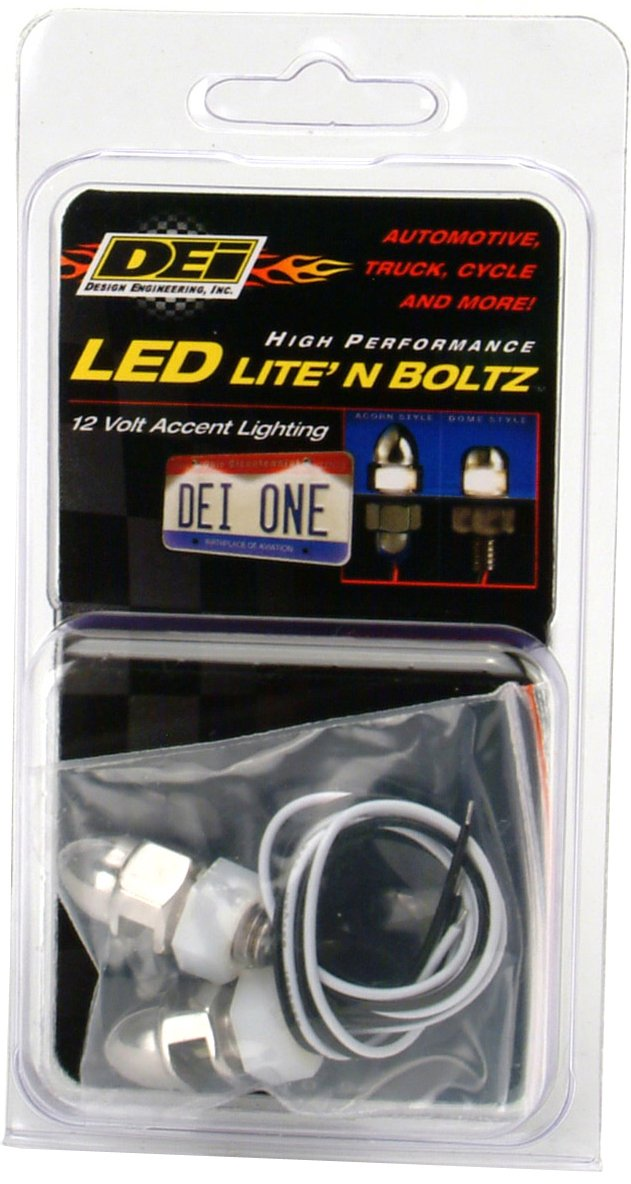 Satin Design Engineering 030301 LiteN Boltz LED License Plate Lighting Kit with Dome Head 4 Piece