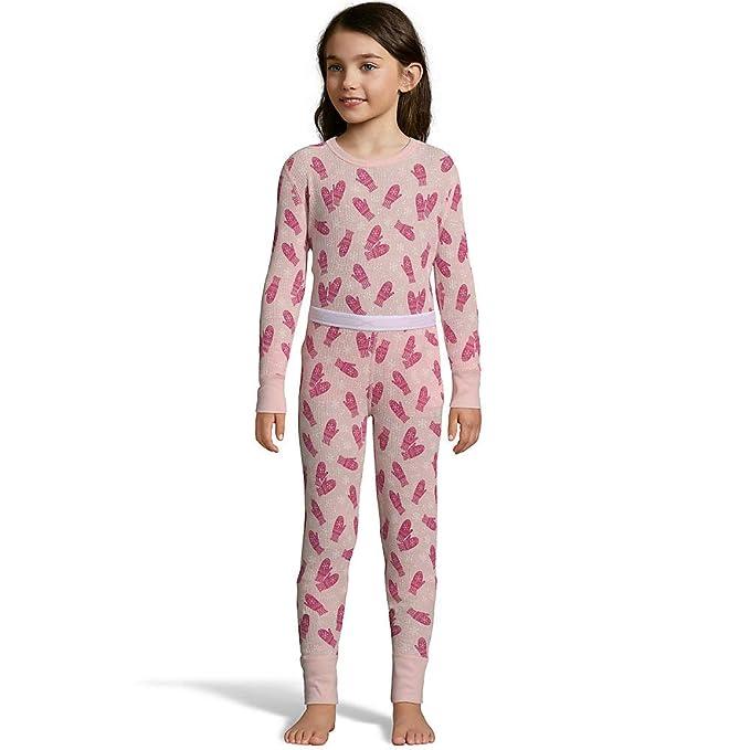 Hanes Girls Waffle Knit Thermal Set