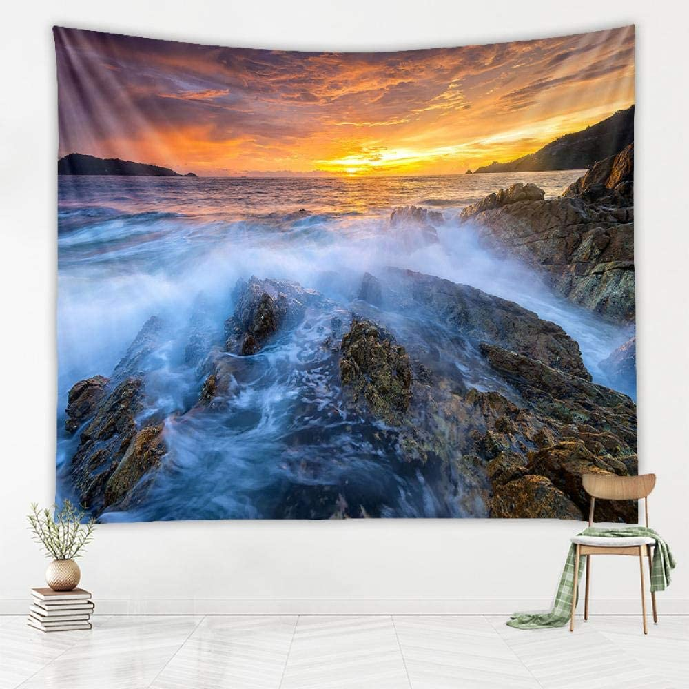 Nobrand Windows Desktop Wallpaper Tapestry Scenic Tapestry Summer Beach Mountain Tapestries Sea Bay Home Decor Large Size Bathroom Decor 230x180cm 4 Amazon Co Uk Kitchen Home