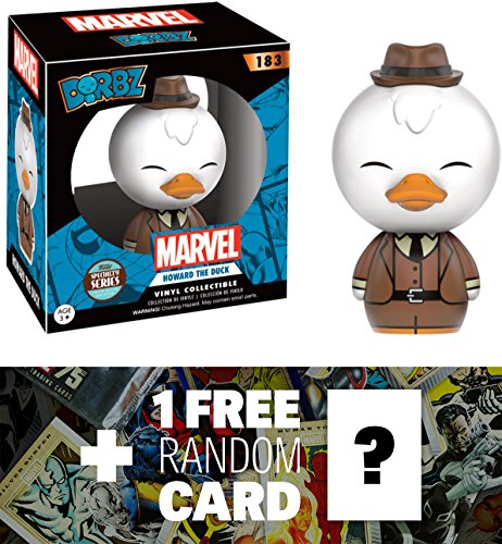 Howard the Duck (Specialty Series): Funko Dorbz x Guardians of the Galaxy Mini Vinyl Figure + 1 FREE Official Marvel Trading Card Bundle (112024)