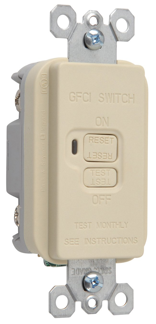 Legrand-Pass & Seymour 2085ICC10 Gfci Dead Front 20-Amp 125-volt Feed, Ivory