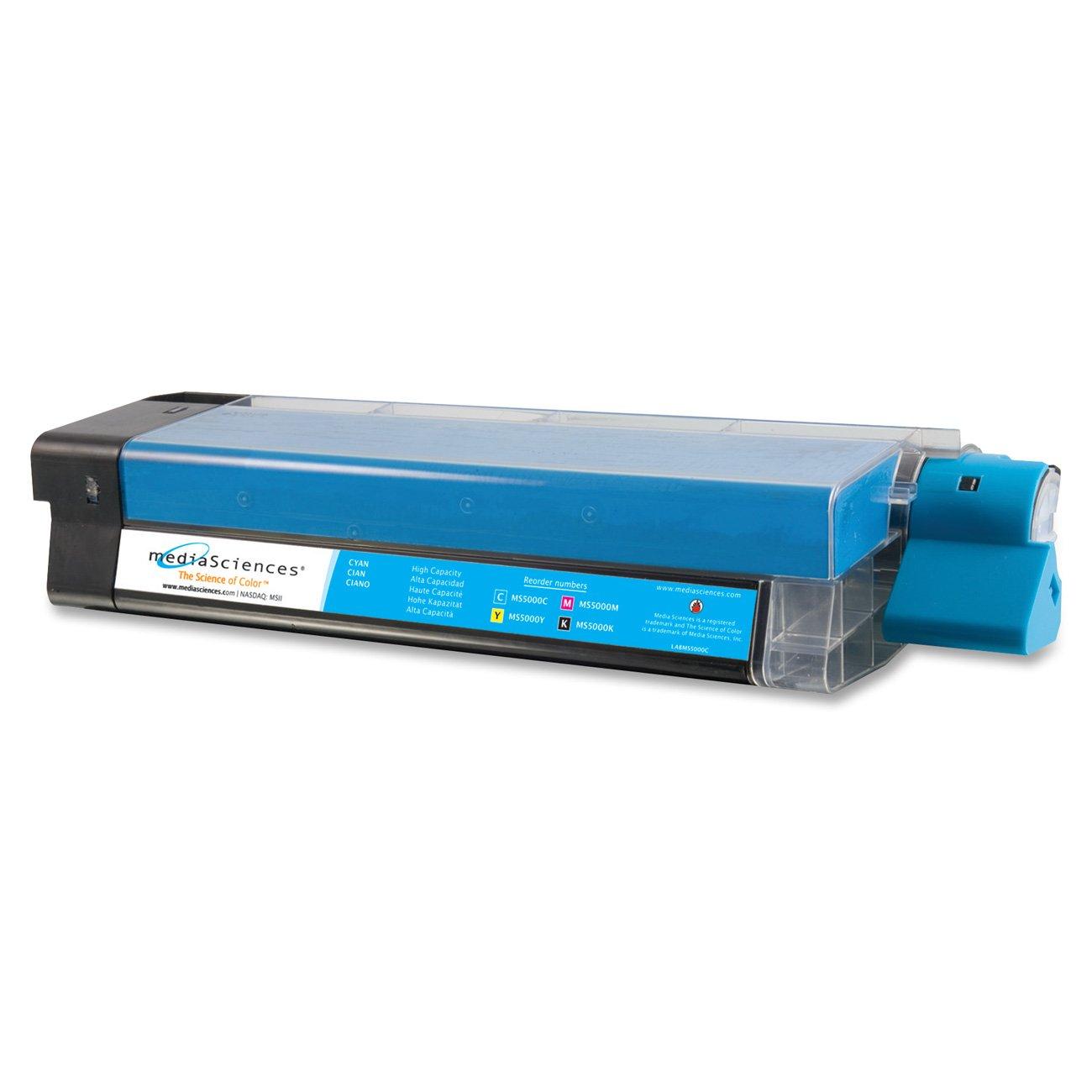 MEDIA SCIENCES MS5000C Laser toner, okidata c5000 series, 42127403 compatible, cyan