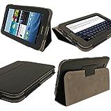 igadgitz Schwarz 'Portfolio' PU Leder Tasche Ledertasche Schutz Hülle Schutzhülle Sleeve Case Etui für Samsung Galaxy Tab 2 P3100 P3110 7.0 3G & WiFi Android 4.0 Internet Tablet