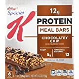 Special K Protein Meal Bar, Chocolatey Chip, 6 - 1.59 oz  Count Bars,  (Pack of 4)