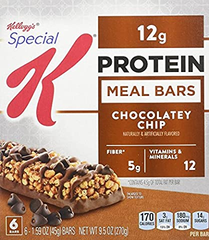 Special K Protein Meal Bar, Chocolatey Chip, 6 - 1.59 oz Count Bars, (Pack of 4) - Special Breakfast