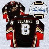 Teemu Selanne Anaheim Ducks Signed Reebok Premier Jersey - Autographed Hockey Jerseys